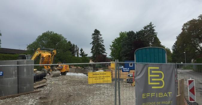Thônex – 5 maisons : Premier radier bétonné