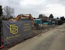 Thônex – 5 maisons contigües : Terrassement en cours