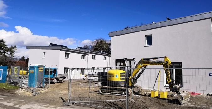 Cointrin 6 maisons : Aménagements extérieurs en cours