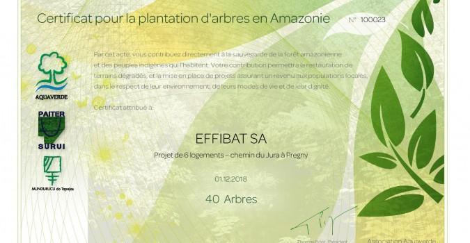 Nouveaux projets = 120 nouveaux arbres plantés