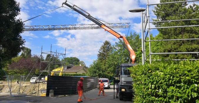 Collonge-Bellerive – 4 maisons : Terrassement en cours
